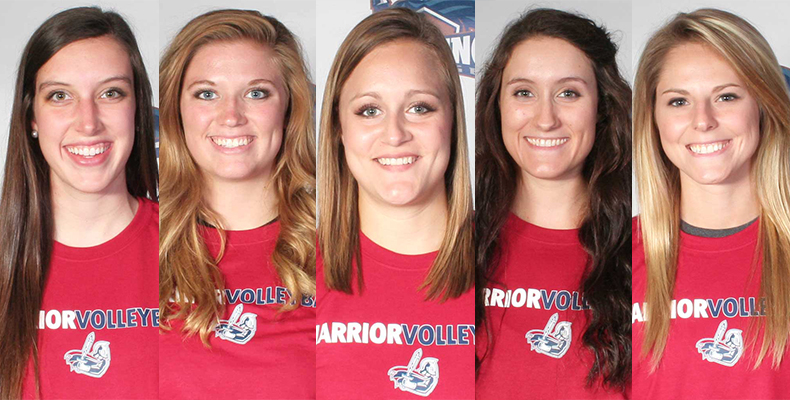 Photo for Five Lady Warriors Recognized As Volleyball All-Conference Award Winners