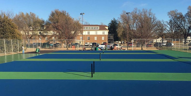 Photo for Tennis Court Renovations Underway For Fall of 2017