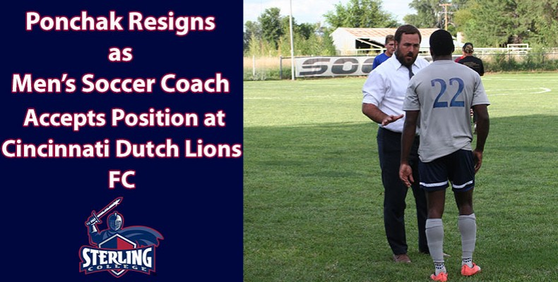 Photo for Ponchak Resigns as Head Men's Soccer Coach At Sterling College