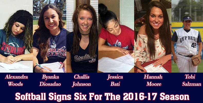 Photo for SC Softball Signs Six For The 2016-17 Season